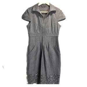 BCBG Floral Cutout Stretchy Knit Dress